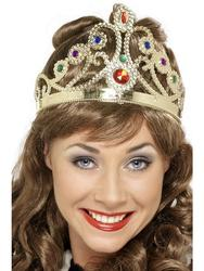 Jewelled Queens Crown Costume Accessory