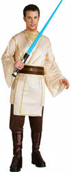 Jedi Knight Mens Fancy Dress Star Wars Sci Fi Film Movie Adults Costume Outfit