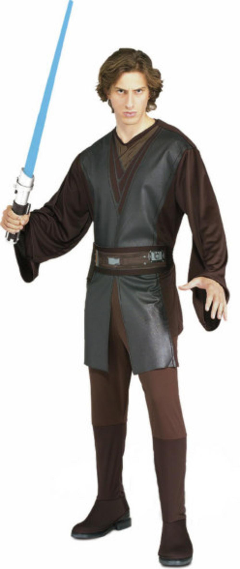 Anakin Skywalker Mens Fancy Dress Star Wars Jedi Scifi Film Adult Costume Outfit