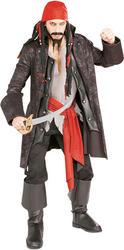 Captain Cutthroat Pirate Costume & Wig