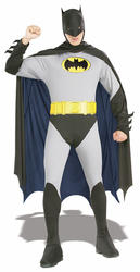 Classic Batman Mens Fancy Dress DC Comic Book Superhero Adults Costume Outfit