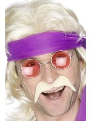 Men's 1970s Blonde Moustache Costume Accessory