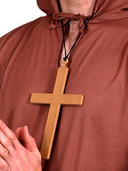 Monk Cross Necklace Costume Accessory