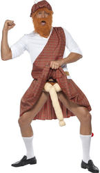 Scotsman Well Hung Highlander Fancy Dress Mens Scottish Stag Party Adult Costume