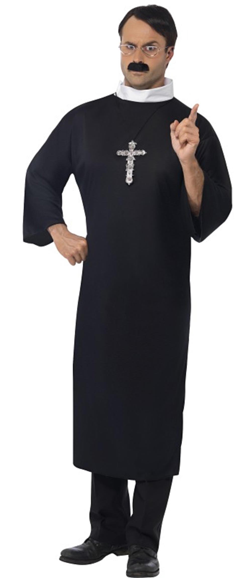Priest Mens Fancy Dress Religious Holy Church Vicar Saints & Sinners Costume