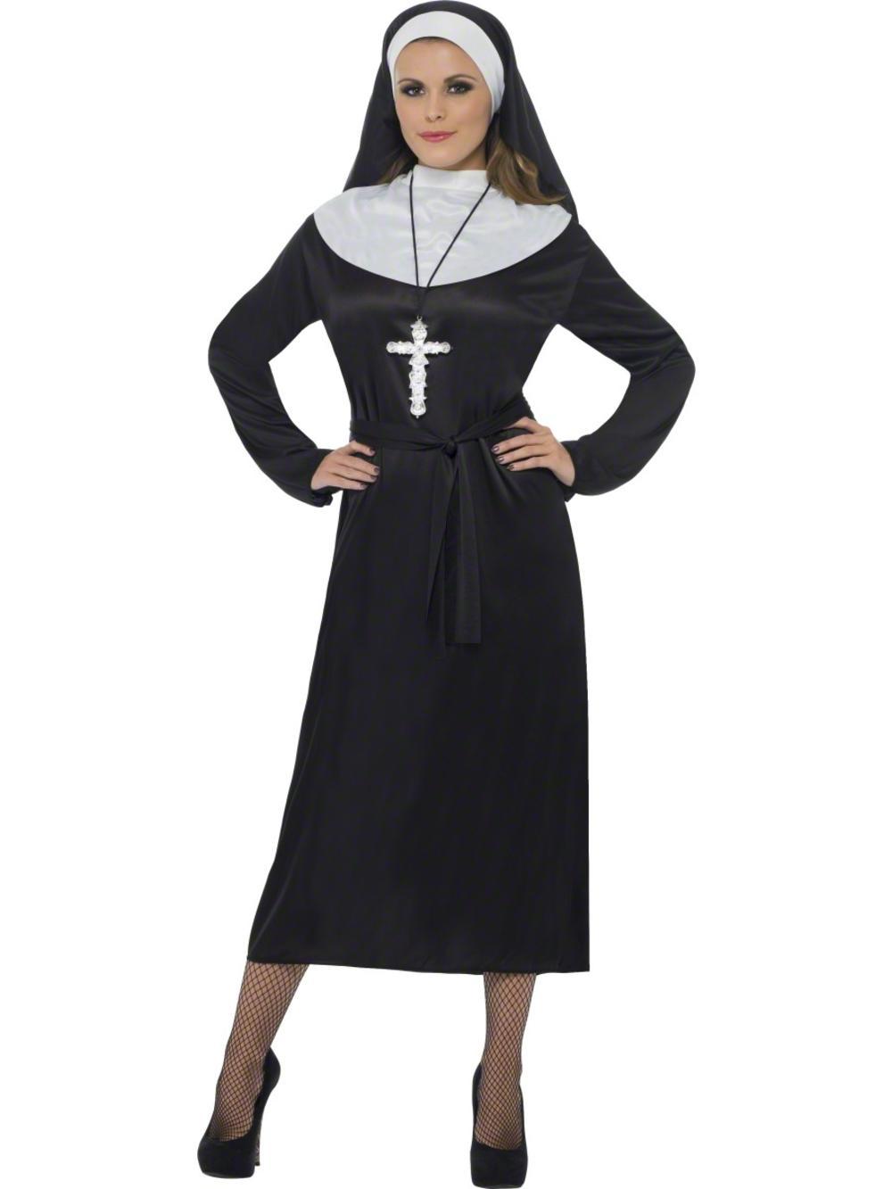 Nun Ladies Fancy Dress Hen Party Saints & Sinners Religious Womens Costume 10-16