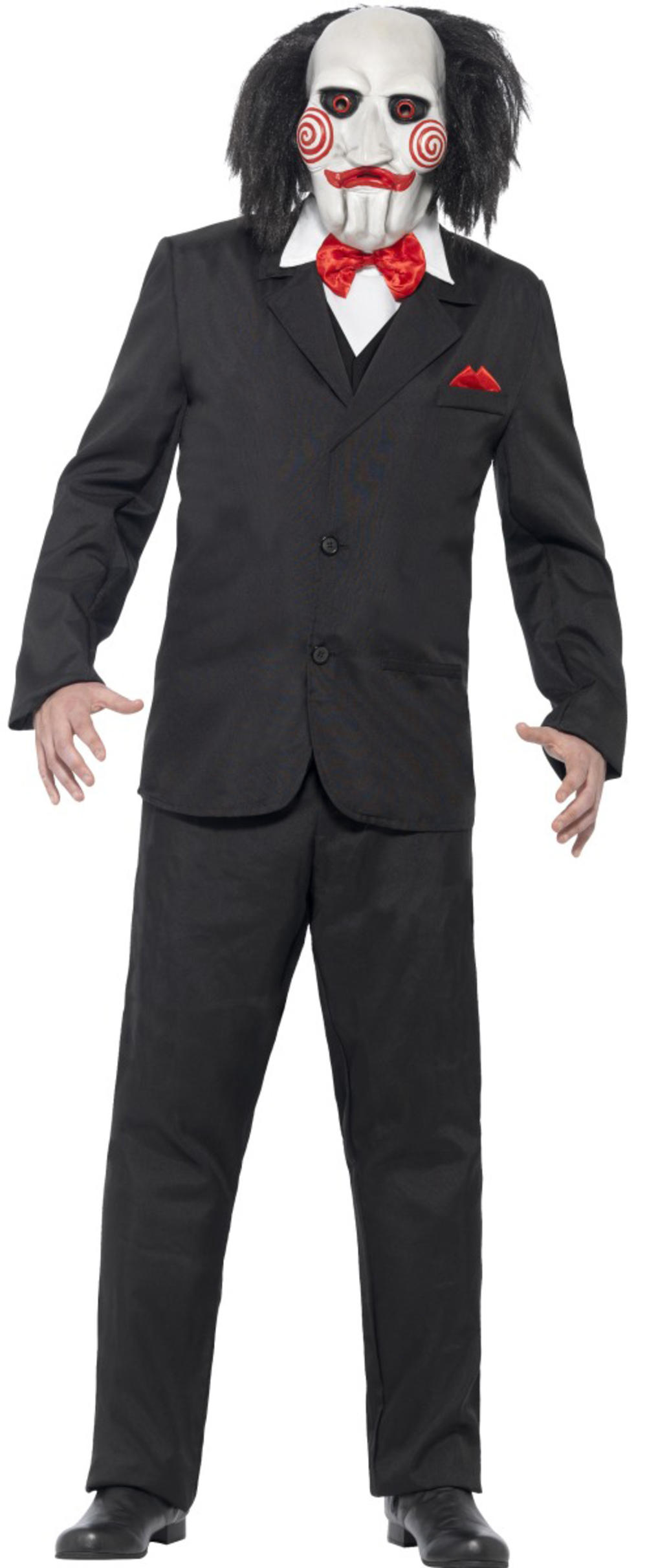 Saw Jigsaw Puppet Halloween Mens Fancy Dress Party Horror Movie Adult Costume