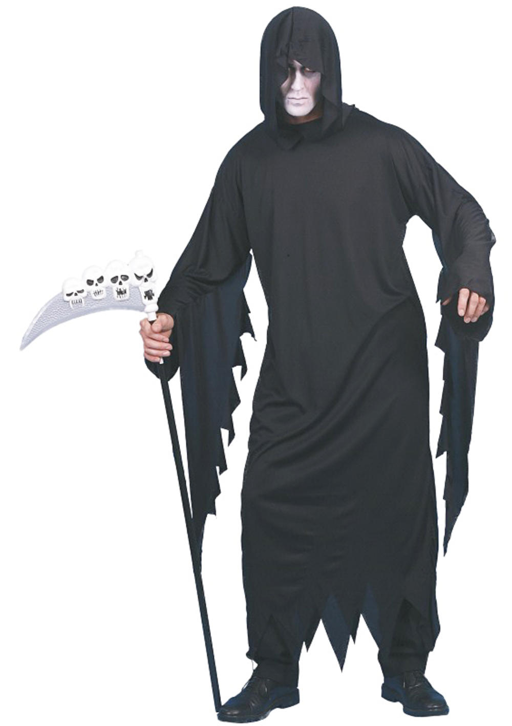 Screamer Mens Halloween Party Fancy Dress Grim Reaper Horror Adults Costume New