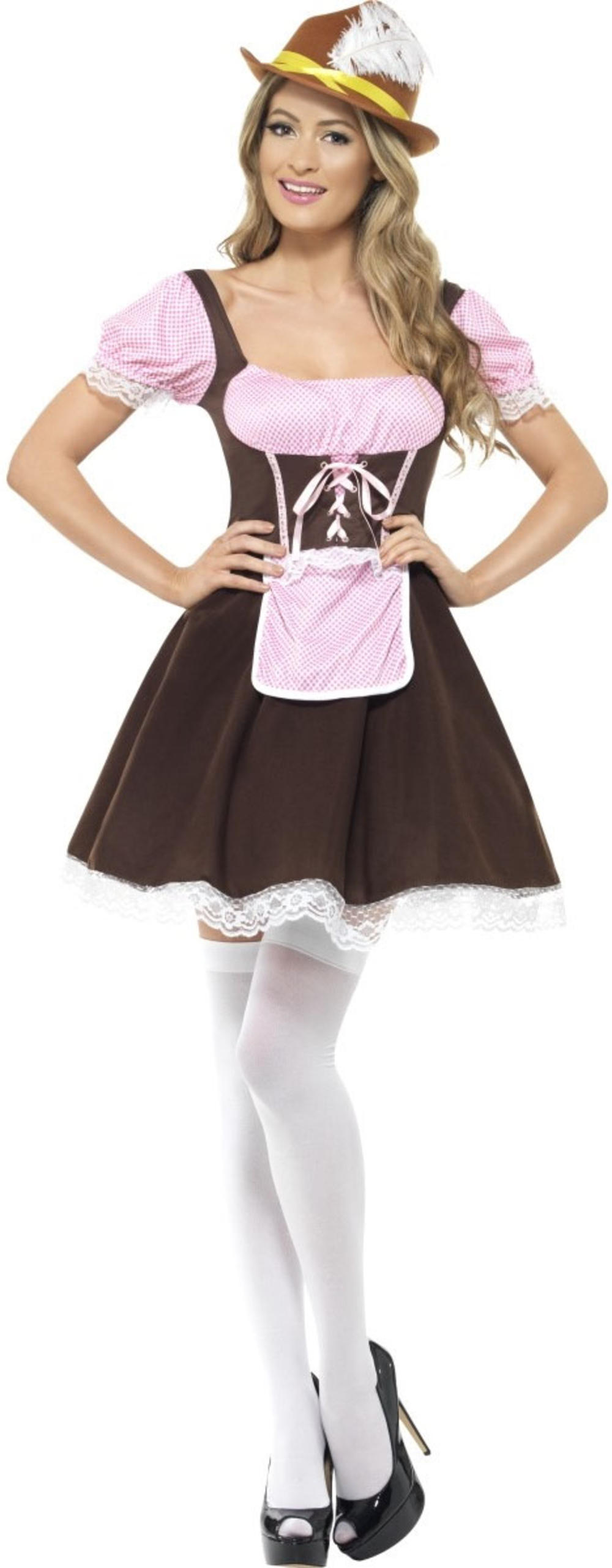 Bavarian Beer Tavern Girl Ladies Oktoberfest Fancy Dress German Waitress Costume