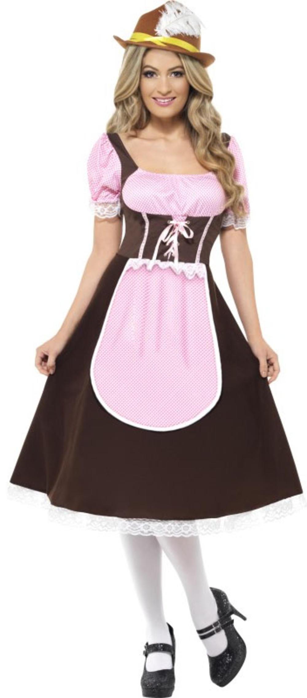 Oktoberfest Girl Ladies Fancy Dress German Beer Tavern Waitress Womens Costume