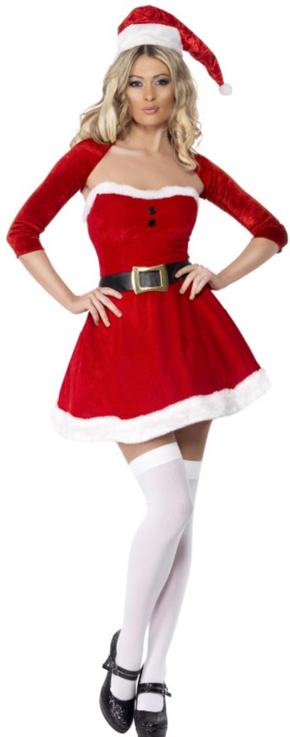 Santa Babe Ladies Sexy Mrs Ms Santa Claus Christmas Party Fancy Dress Costume