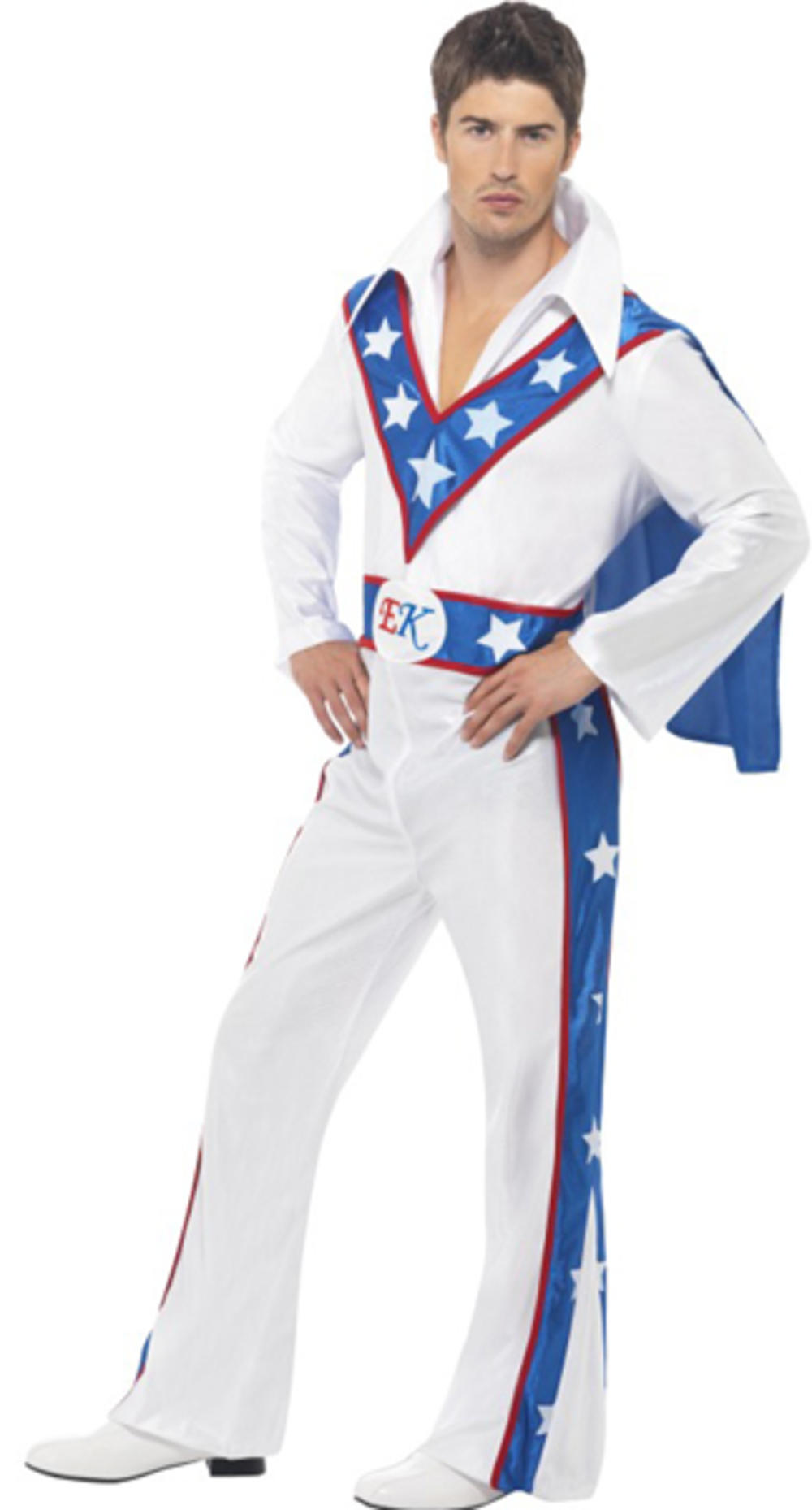 Evel Knievel Celebrity Stunt Man Mens Fancy Dress 70s Dare Devil Adults Costume