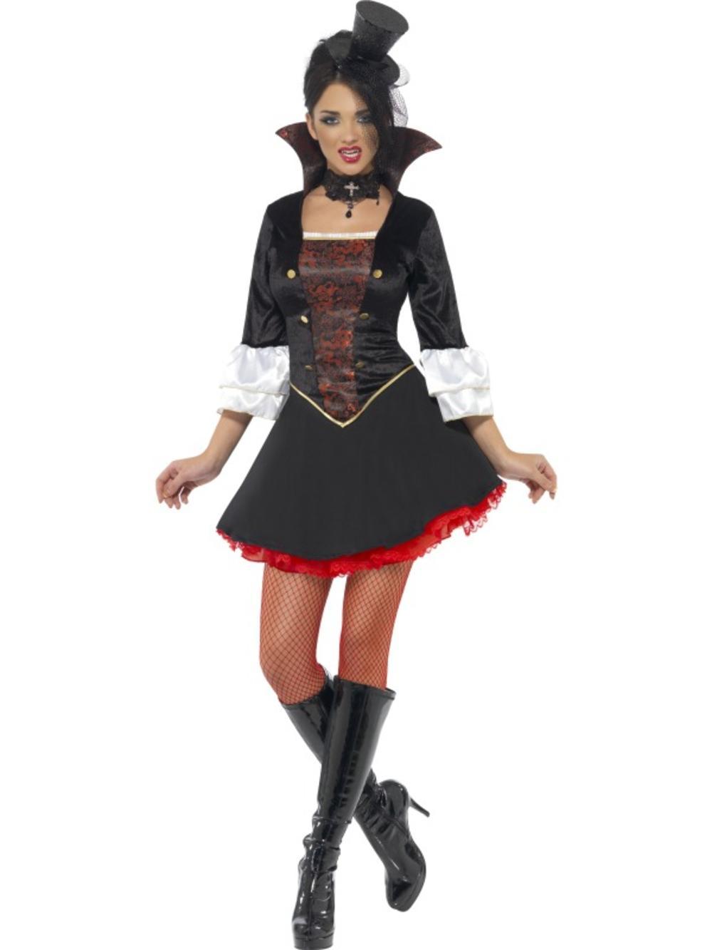 Vampire Princess Ladies Halloween Fancy Dress Vampiress Womens Adults Outfit New