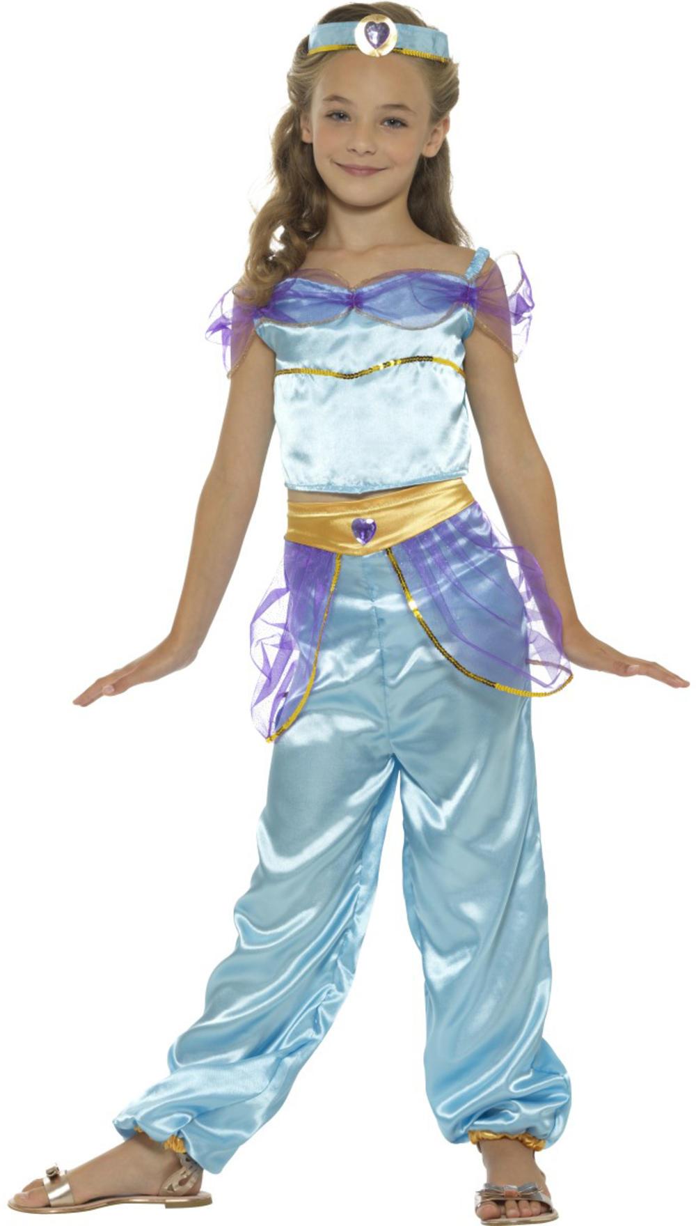 Arabian Princess Girls Fancy Dress Fairy Tale Belly Dancer Kids Costume Outfit