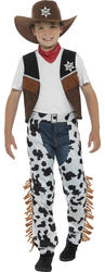 Texan Cowboy Boys Fancy Dress Wild West Western Rodeo Kids Childs Costume Outfit