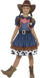 Texan Cowgirl Girls Fancy Dress Wild West Rodeo Western Kids Childs Costume New