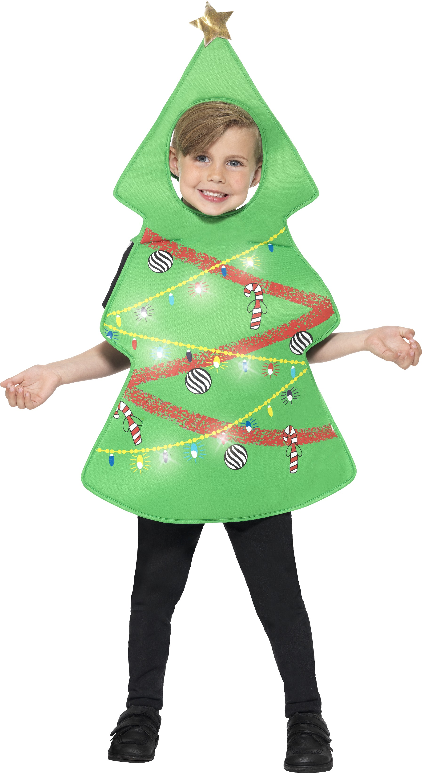 Christmas Tree Kids Fancy Dress Novelty Festive Fun Boys Girls Xmas Costume All Boy S Costumes Budget Fever