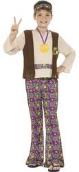 Hippie Boys Fancy Dress 60s 70s Groovy Peace Childs Childrens Kids Hippy Costume