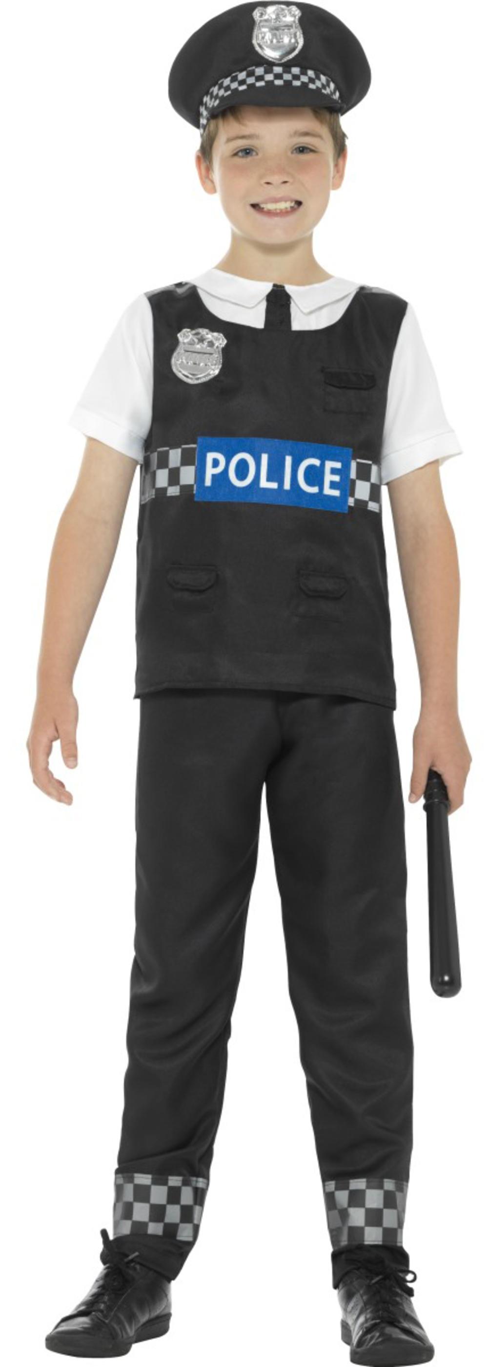 Cop Boys Fancy Dress Policeman Officer Uniform Occupation Kids Childrens Costume