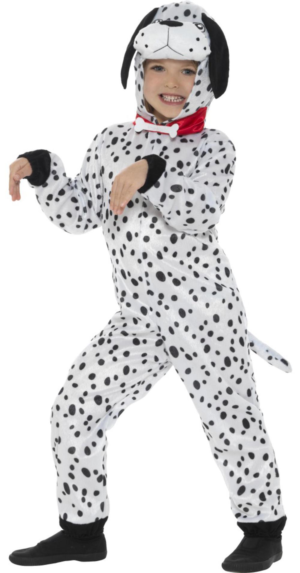 Dalmatian Kids Fancy Dress Dog Puppy Halloween Boys Girls Childrens Costume