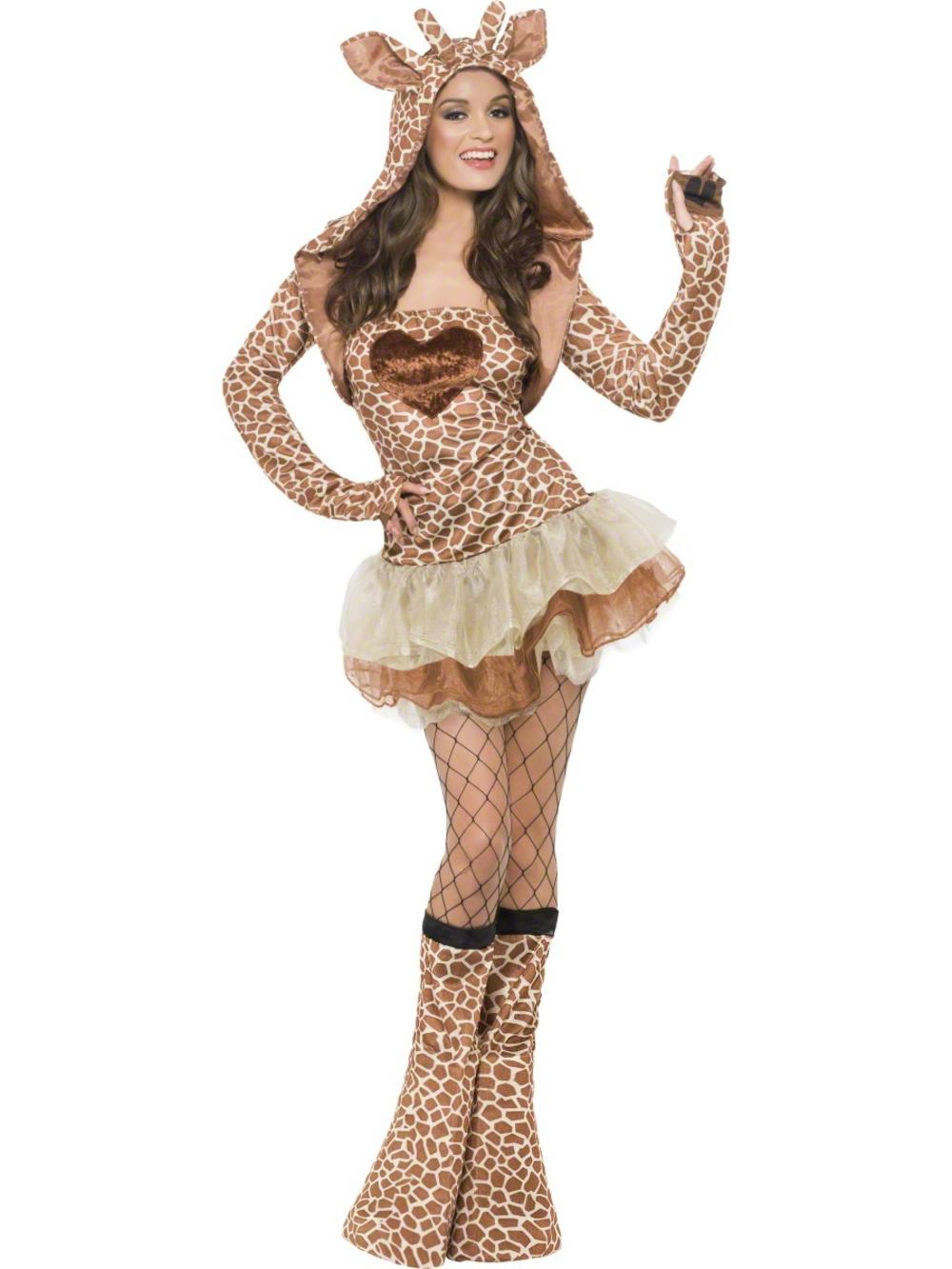 Sexy Giraffe Tutu Ladies Fancy Dress Safari Zoo Animal Adults Costume Outfit