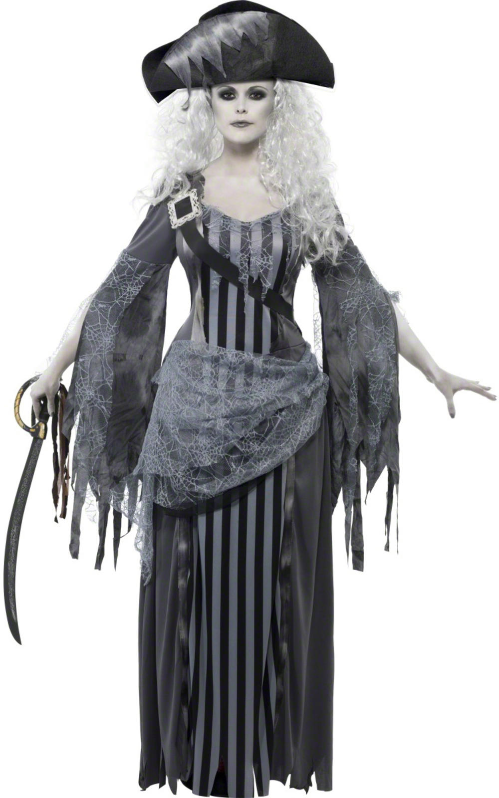 Ghost Pirate Princess Ladies Fancy Dress Halloween Shipwreck Adults Costume