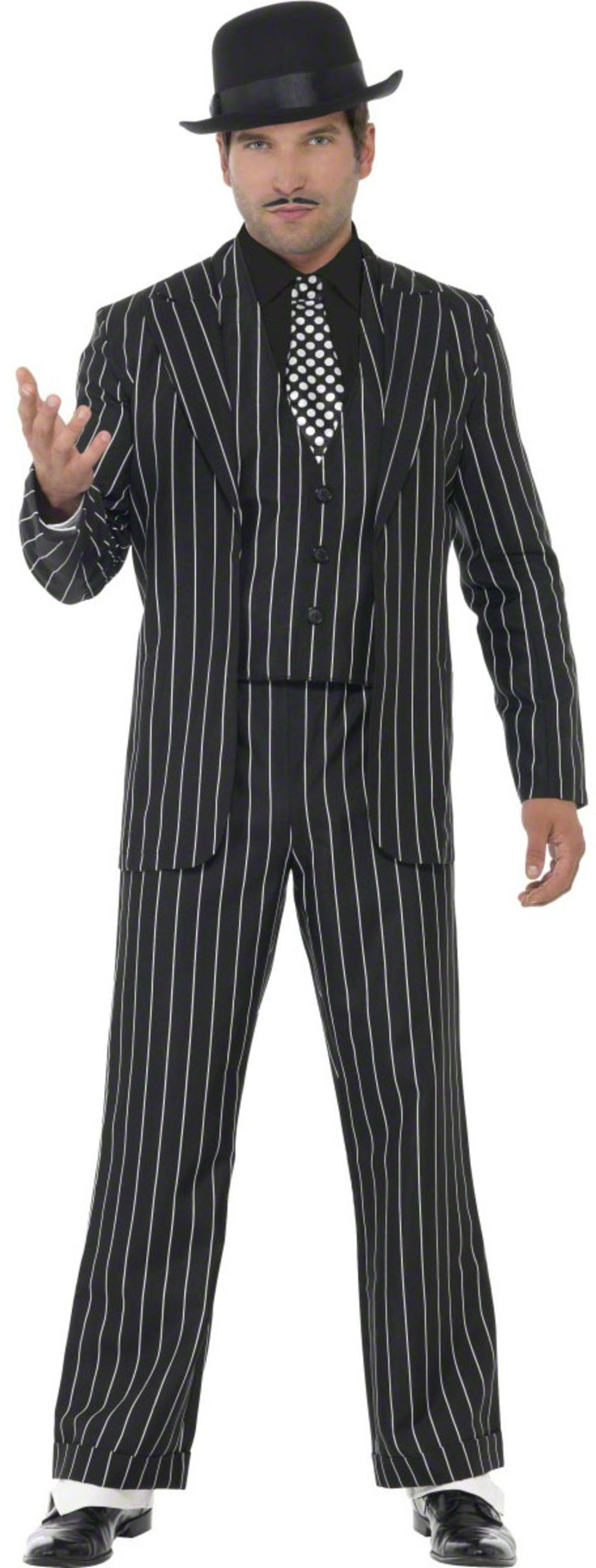 Vintage Gangster Boss Suit Mens Fancy Dress 1920s Costume 20s Mafia Outfit New