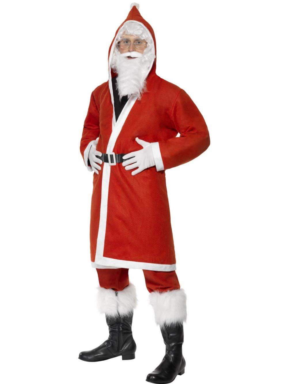 Father Christmas Mens Fancy Dress Santa Claus Adults Festive Xmas Costume Outfit