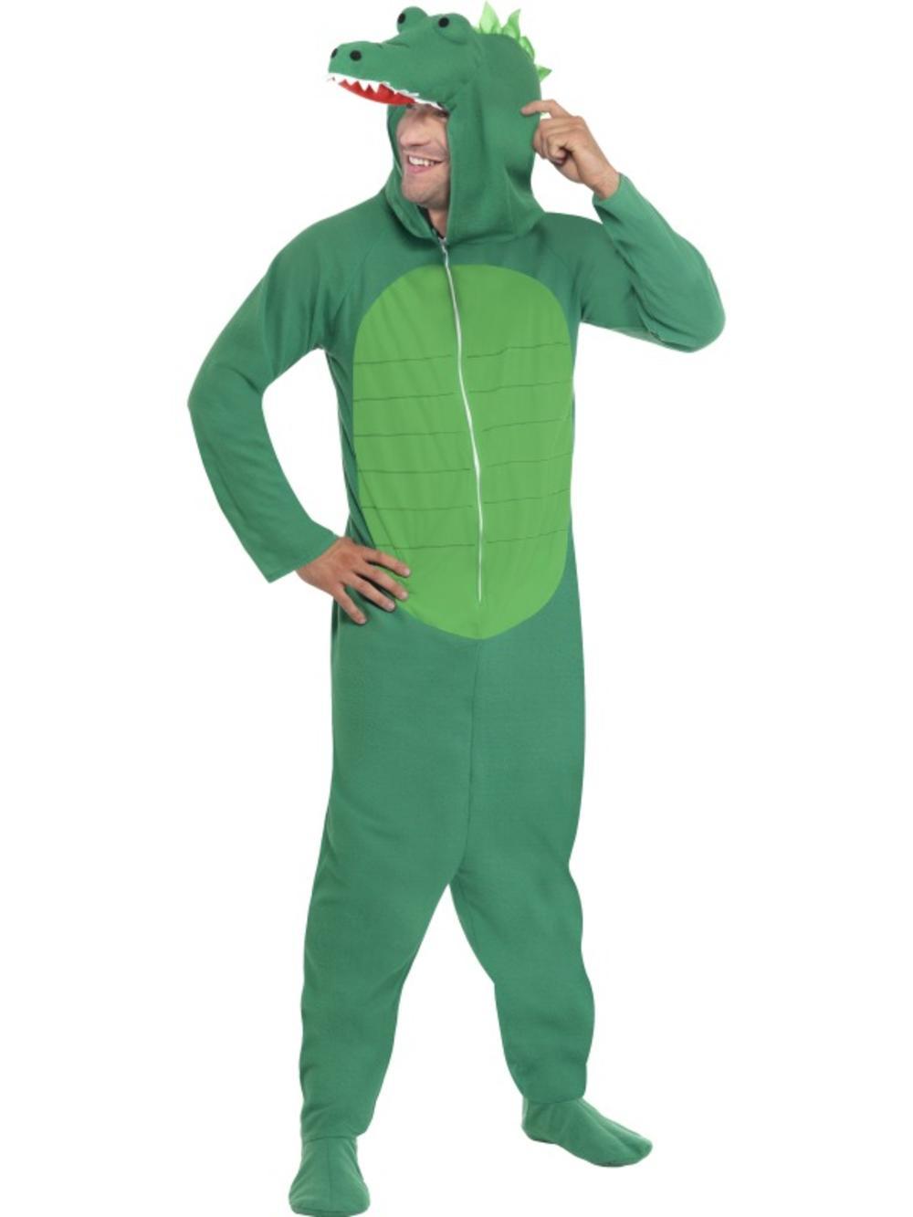 Crocodile Adults Fancy Dress Mens Animal Book Week Alligator Costume Outfit
