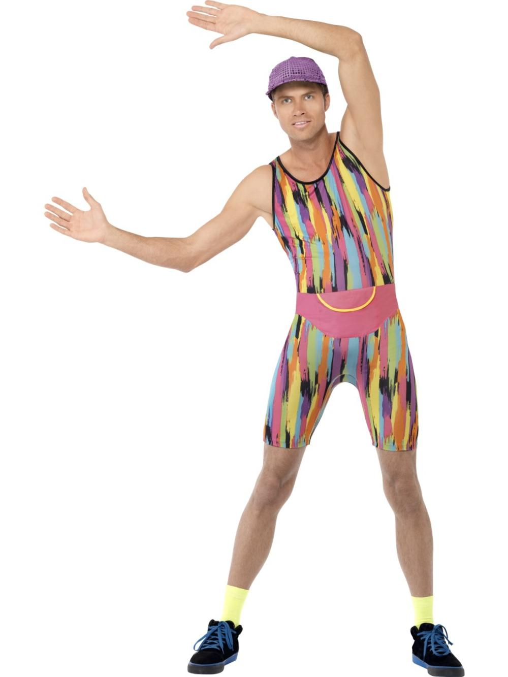 Mr Energizer Aerobics Instructor Mens Fancy Dress Sports Adults Costume Outfit