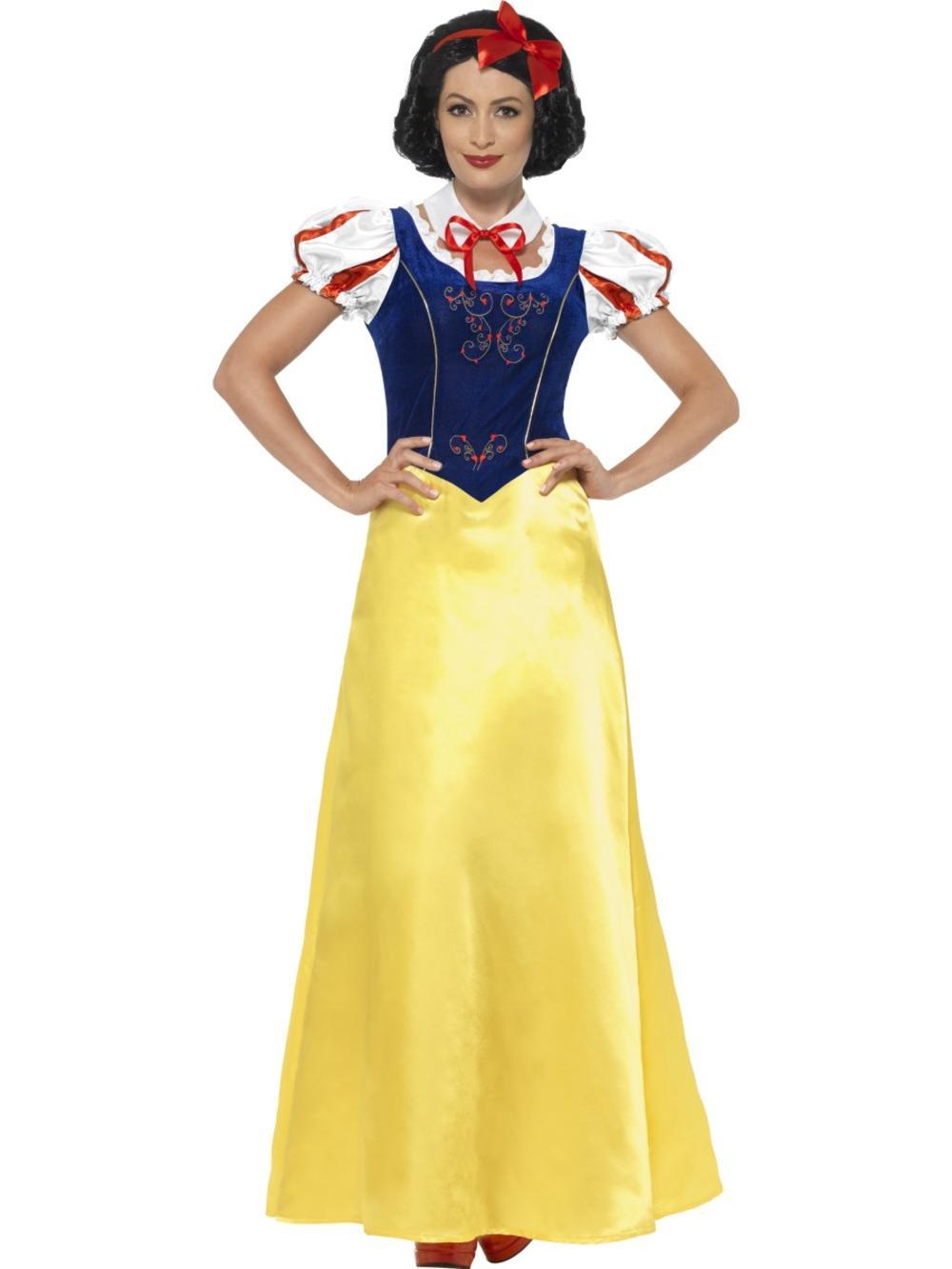 Princess Snow Ladies Fancy Dress Fairy Tale Book Day Week Adults Womens Costume