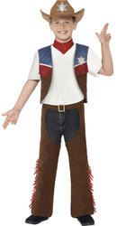 Texan Cowboy Boys Fancy Dress Western Kids Childs World Book Day Costume Outfit