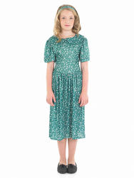 Wartime Girl Fancy Dress 1940s Historical Costume Kids Child Outfit Age 4-12 New