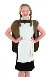 Viking Girl Fancy Dress Medieval School Book Week Costume Kids Dress Up 4-12 Yrs