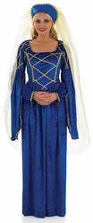 Royal Tudor Ladies Fancy Dress Medieval Renaissance Womens Adults Costume Outfit
