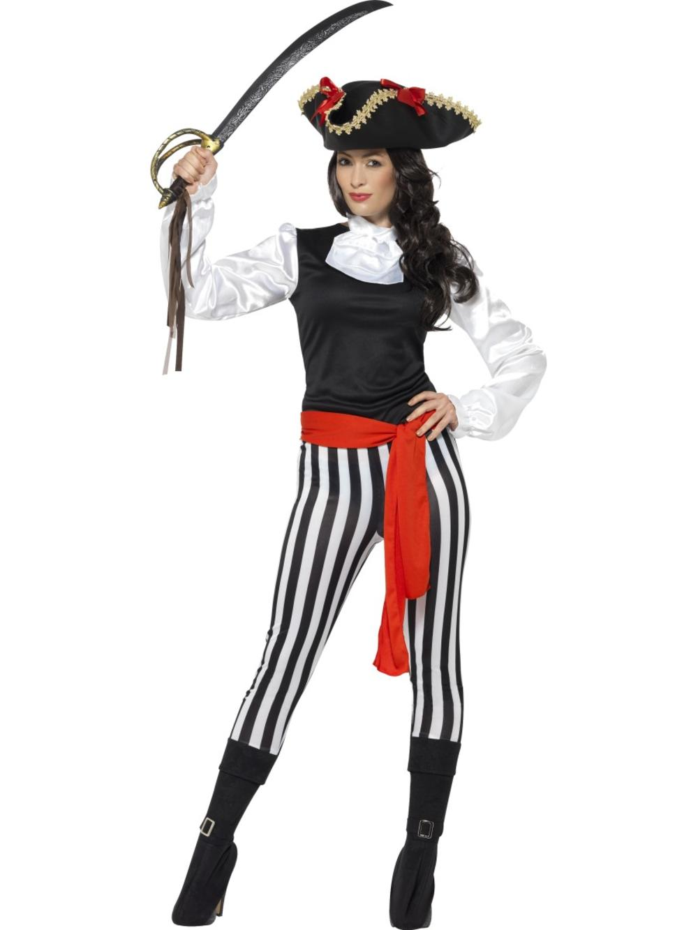 Pirate Ladies Fancy Dress Carribean Captain Shipmate Adults Book Day Costume