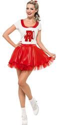 Grease Sandy Cheerleader Ladies Fancy Dress 50s Rydell High Womens 1950s Costume