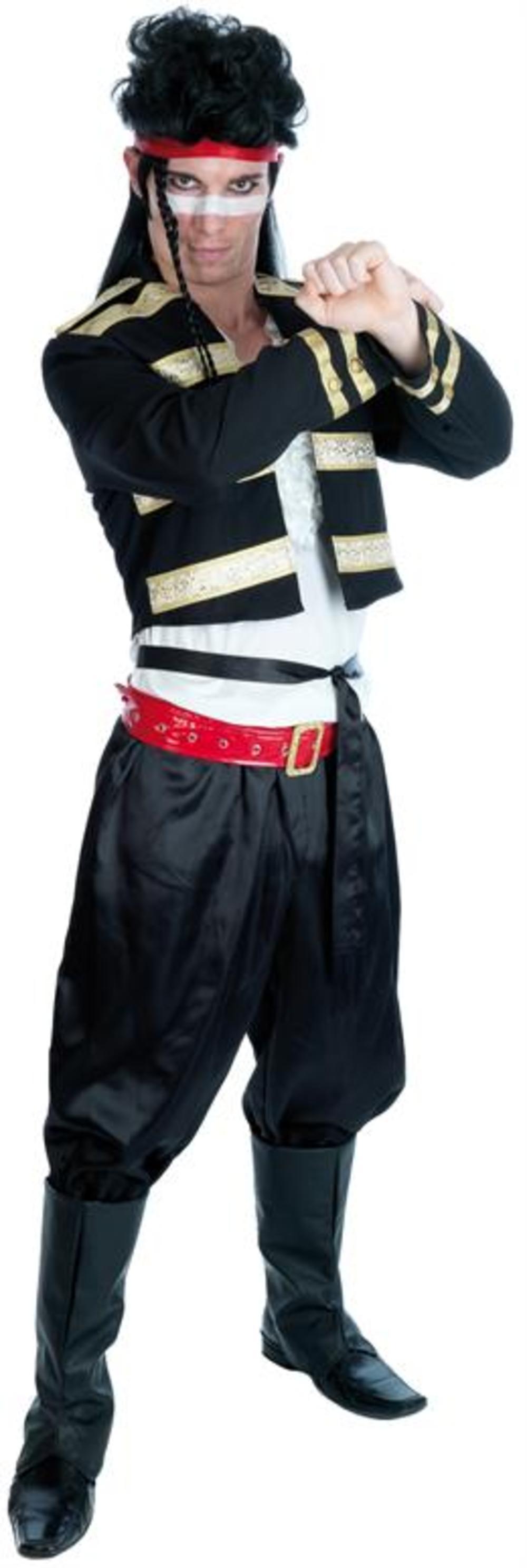 Adam Ant Pop 80s Star Adult Fancy Dress Mens Celebrity 1980s Prince Costume New