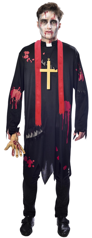 Zombie Vicar Priest Mens Halloween Fancy Dress Saints & Sinners Adults Costume