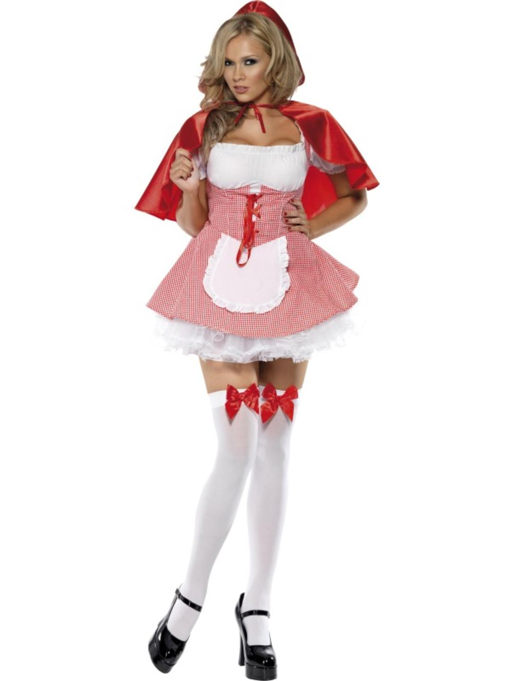 Sexy Red Riding Hood Ladies Fancy Dress Fairy Tale World Book Day Adults Costume