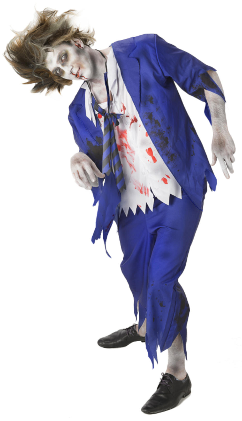 Zombie School Boy Mens Halloween Fancy Dress Undead Gory Adults Costume Outfit