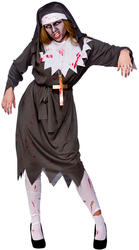 Zombie Sister Nun Ladies Fancy Dress Religious Saints Sinners Halloween Costume