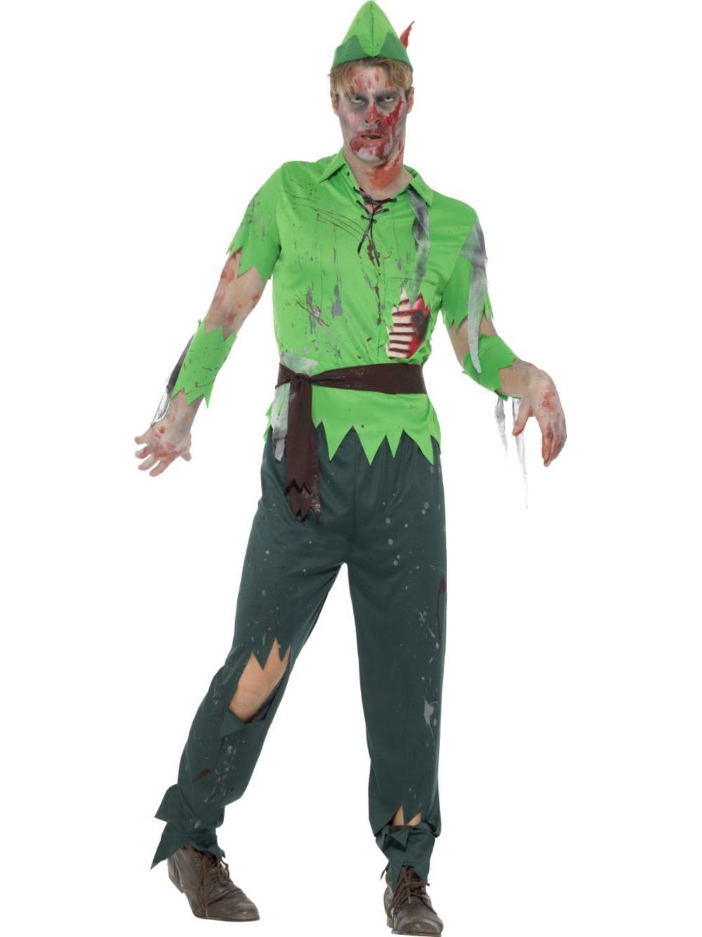Zombie Lost Boy Mens Fancy Dress Undead Halloween Gory Fairy Tale Adults Costume