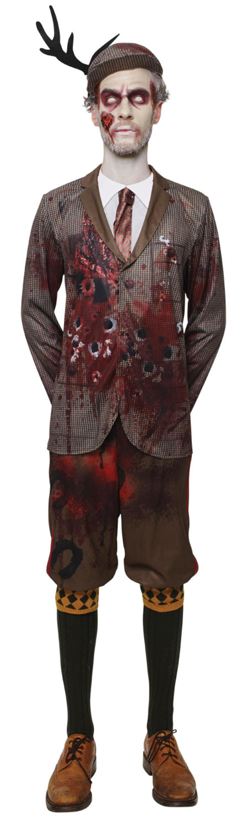 Lord Gravestone Zombie Hunter Mens Fancy Dress Halloween Horror Adult Costume