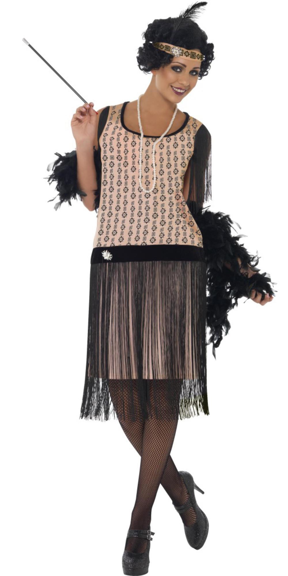 Coco Flapper Ladies Fancy Dress 1920s Charleston 20s Womens Gatsby Adult Costume