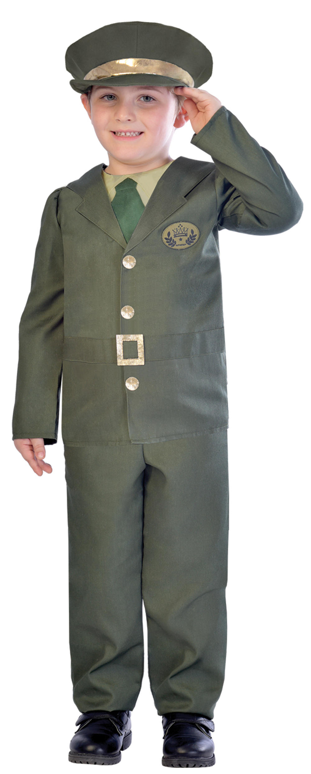 WW2 Soldier Boys Fancy Dress Military Army Wartime 30s 1940s Kids Childs Costume