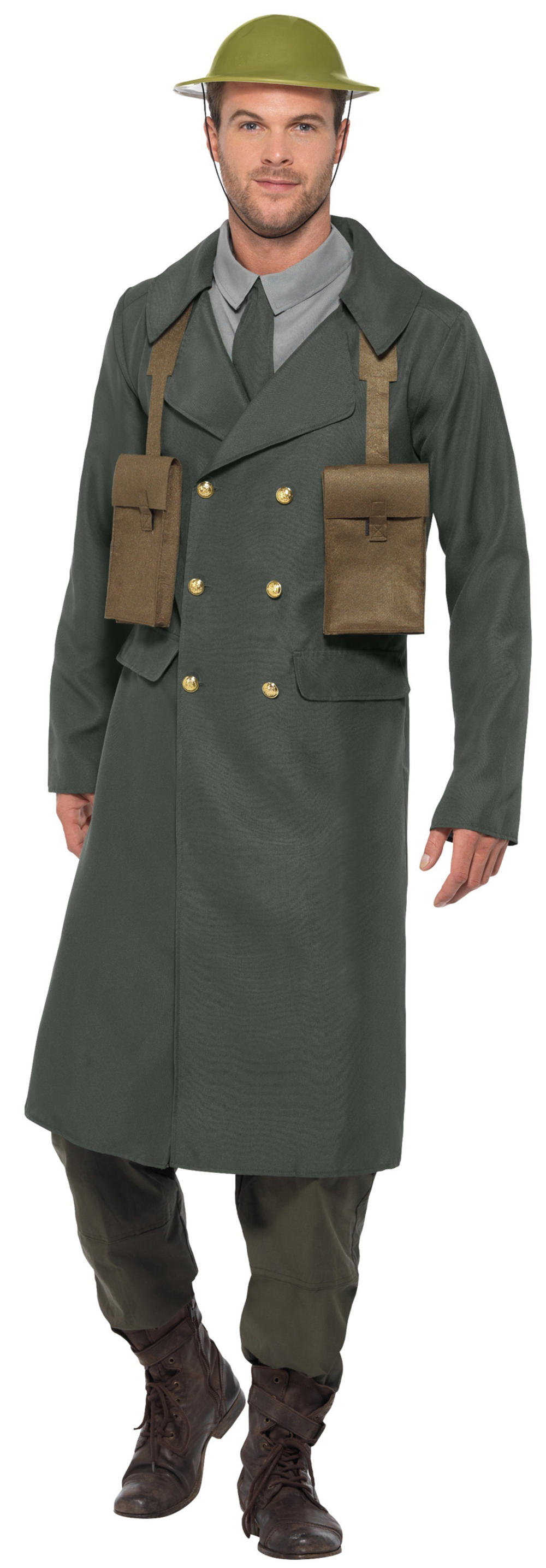 WW2 British Officer Mens Fancy Dress Military Army Uniform Adults Costume Outfit