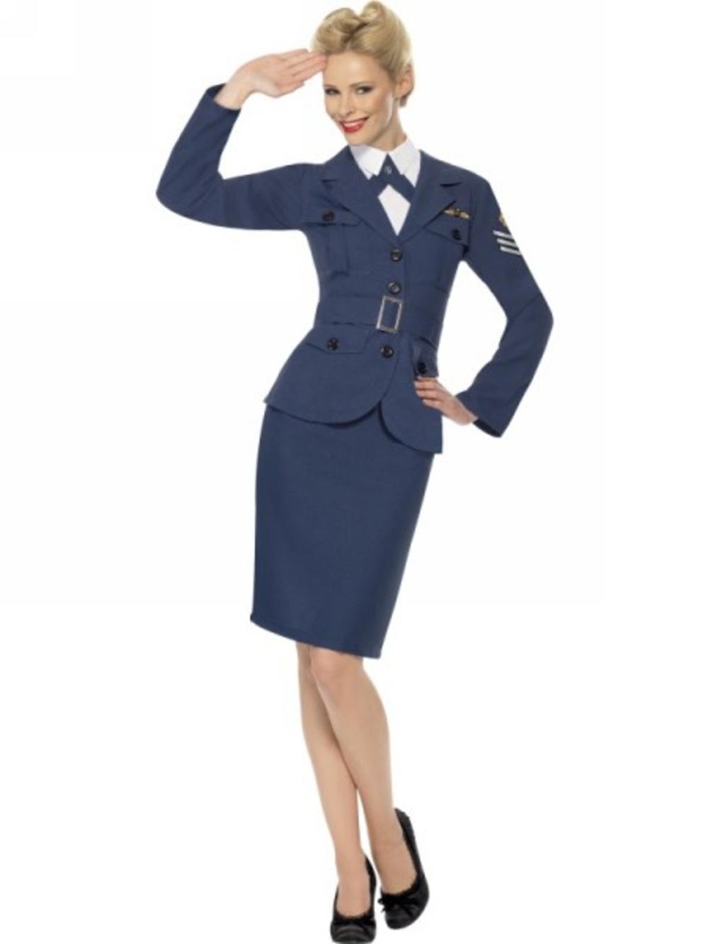 RAF Air Force Female Captain Ladies Fancy Dress 1940s 30s Uniform Costume Outfit