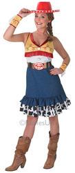 Jessie Adult Toy Story Fancy Dress Womens Disney Ladies Costume + Cowboy Hat New