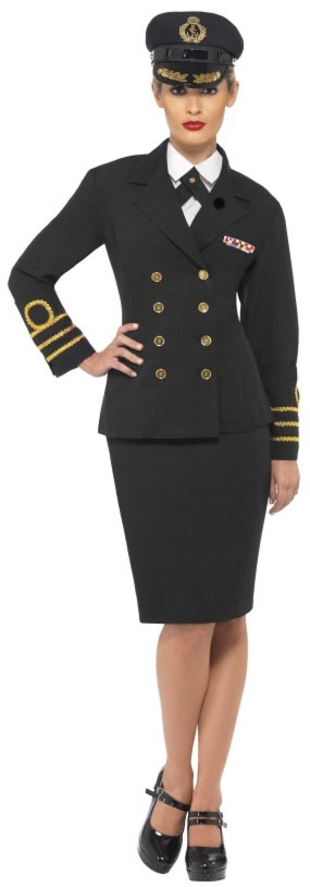 Women's' Navy Officer Uniform Fancy Dress Costume